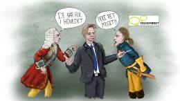 Frederik 4 og Karl 12 skændes på Folkemødet leif plith lauritsen
