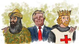 Donald Trump slutter fred i mellemøsten mellem Saladin og Richard Løvehjerte