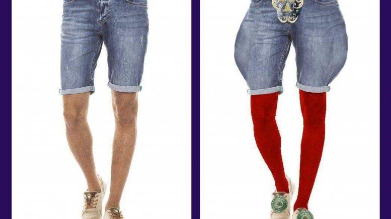 Denim shorts renæssance stil